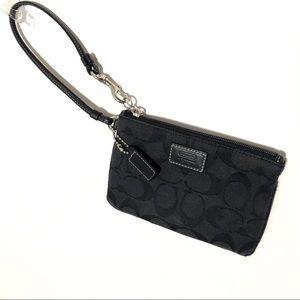 Coach Black Wristlet Wallet Purse